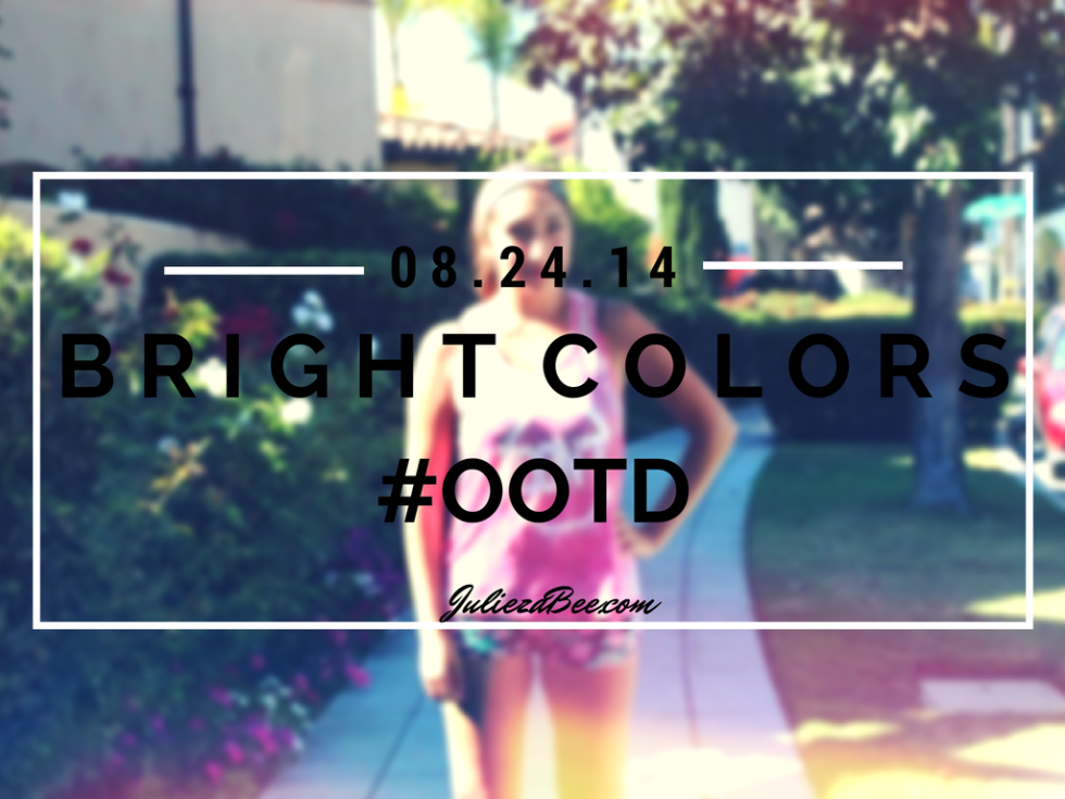 bright colors ootd