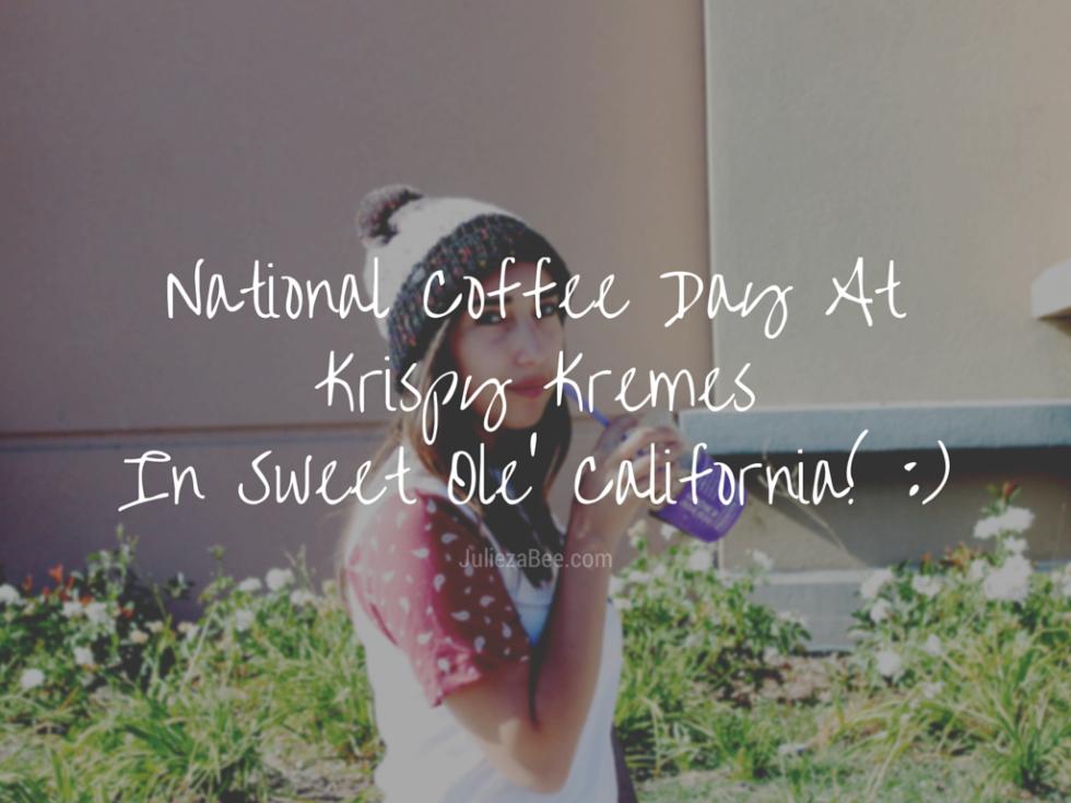 National Coffee Day At Krispy KremesIn